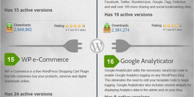 Most Popular WordPress Plugins {Infographic}