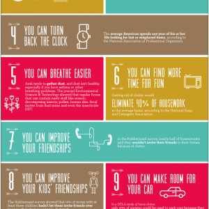How to De-Clutter Your Life {Infographic}