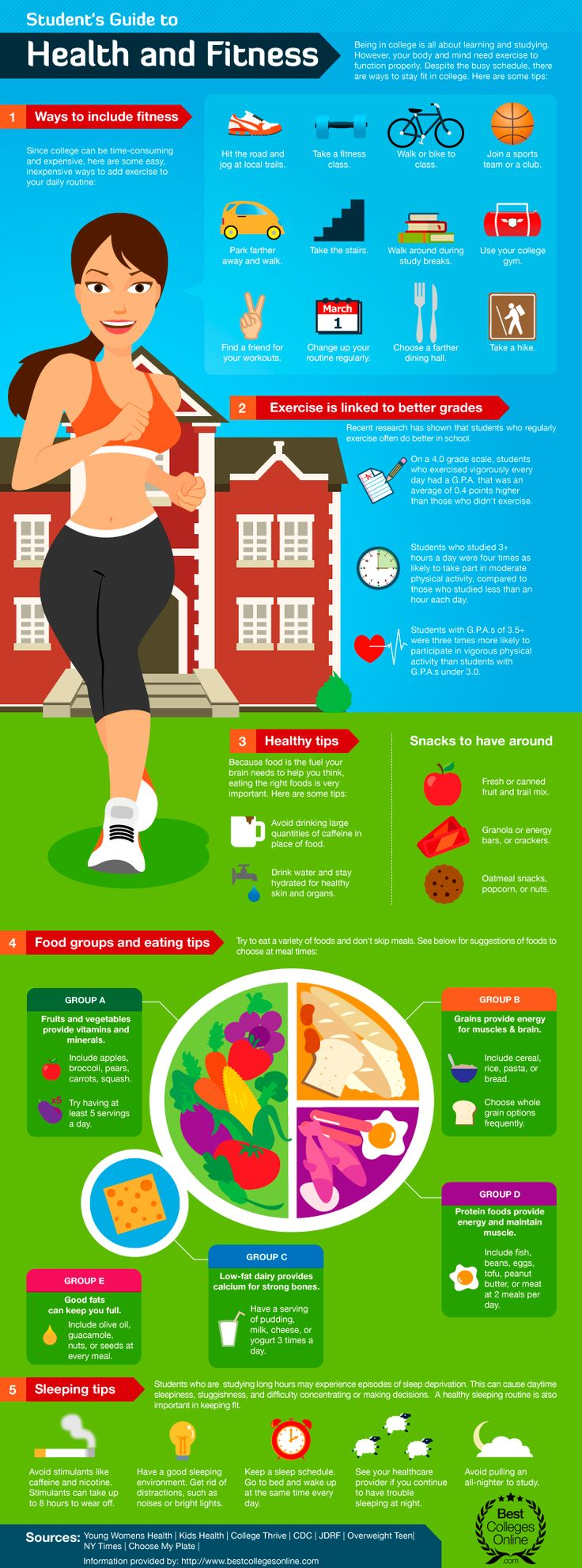 Student s guide to health fitness best infographics