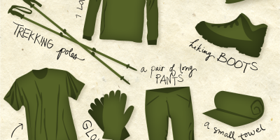 The Alps Hiking Packing List {Infographic}