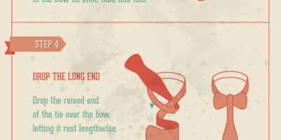 How to Tie a Bow Tie {Infographic}