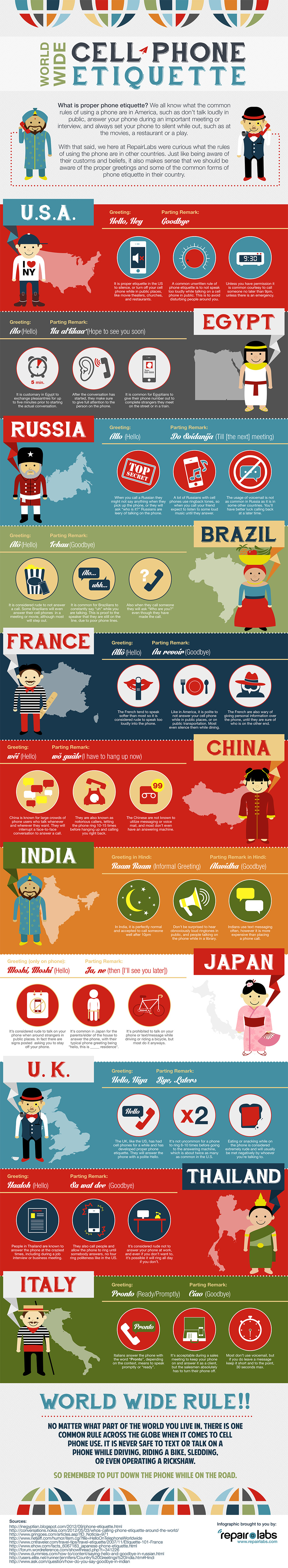 World wide phone etiquette infographic best infographics