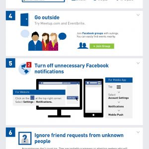 How to Stop Wasting Time On Facebook {Infographic}