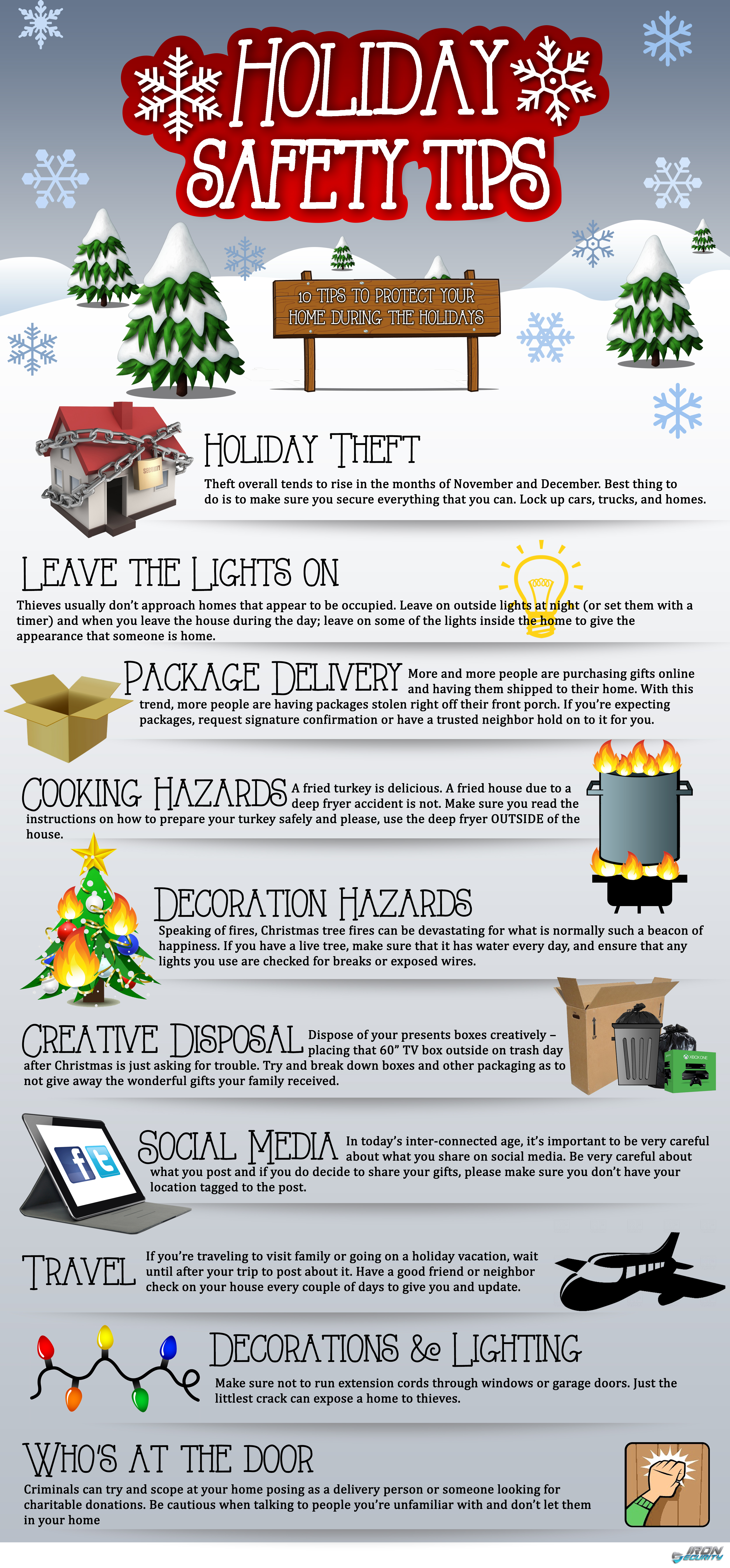 Holiday Safety Tips Infographic