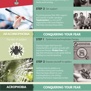How to Conquer Your Fears Infographic