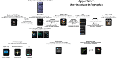 Apple Watch User Interface Infographic