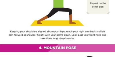 7 Poses To Reduce Stress {Infographic}