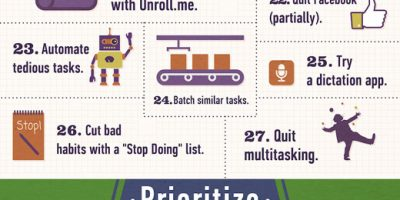 50 Productivity Tips {Infographic}