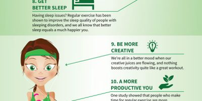 16 Ways Exercise Makes You a Happier Person {Infographic}
