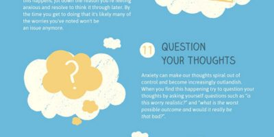 How to Combat Anxiety & Stress at Work {Infographic}