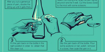 How-To Guide On Glass Bottle Crafts {Infographic}