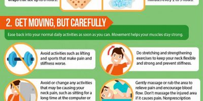 How To Treat Neck Pain At Home {Infographic}