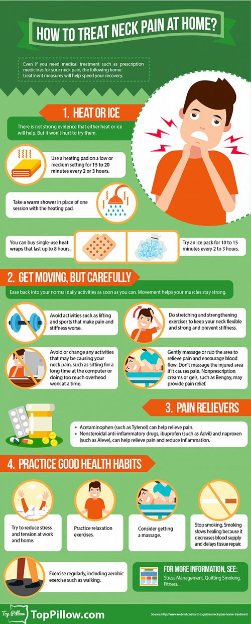 How To Treat Neck Pain At Home {Infographic} - Best ...