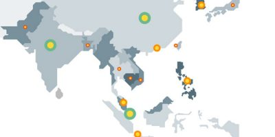 Asias' Startup Accelerators Infographic