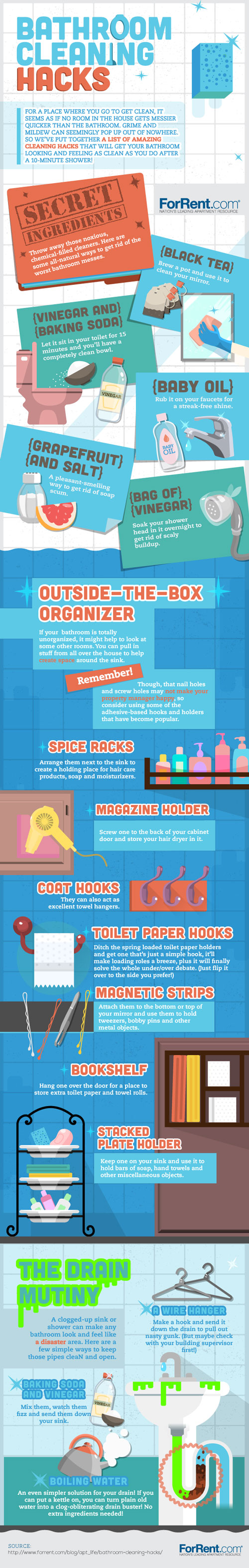 Bathroom Cleaning Hacks Infographic Best Infographics