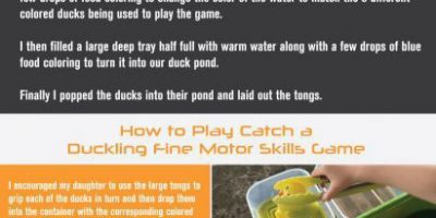 Catch a Duckling Fine Motor Skills Game [Infographic]