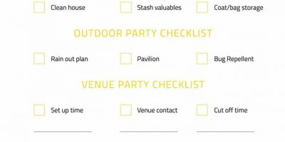 The Ultimate Party Planning Checklist [Infographic]