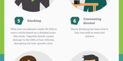 12 Bad Habits That Might Lead to Hair Loss [Infographic]