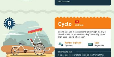 15 Ways To Get Around the Globe [Infographic]