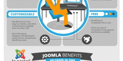 WordPress vs Joomla vs Drupal Infographic
