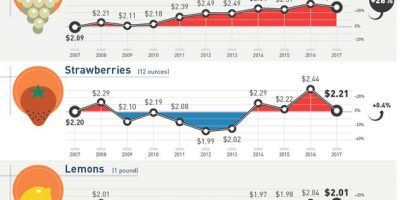Cost of Common Grocery Items Over 10 Years [Infographic]