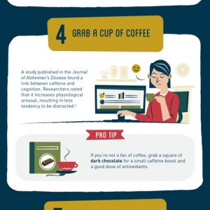 9 Ways To Focus a Wandering Mind [Infographic]