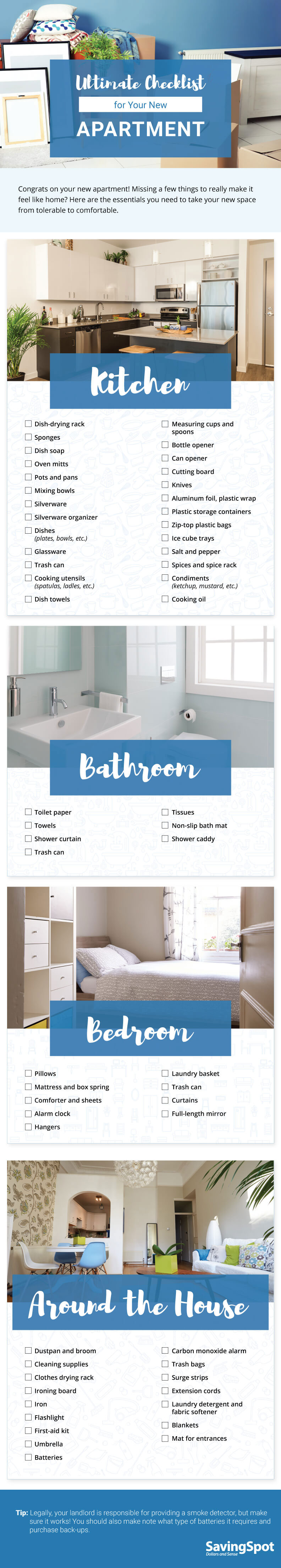Ultimate Checklist for Your New Apartment - Best Infographics