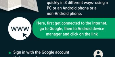 How to Find Your Lost Or Stolen Android Phone [Infographic]