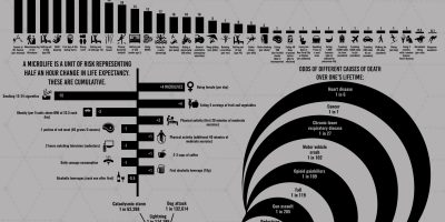 How Likely You Are To Die From Different Activities [Infographic]
