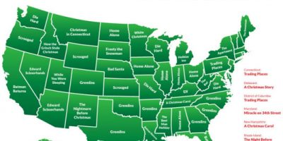 Favorite Christmas Movies by State