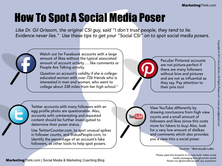 social media poser
