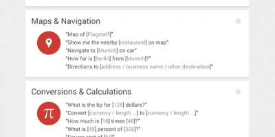 60+ Google Now Commands Infographic