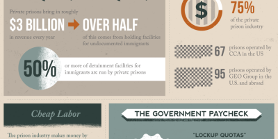 The Rise of For-Profit Prisons {Infographic}