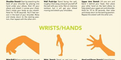 Office Stretches To Do At Your Desk {Infographic}