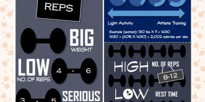Bulking Up vs. Leaning Out Infographic