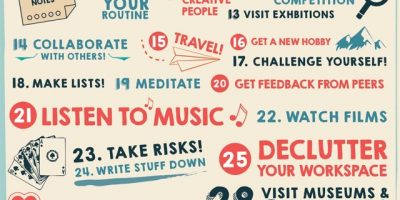 40 Ways to Stay Creative {Infographic}