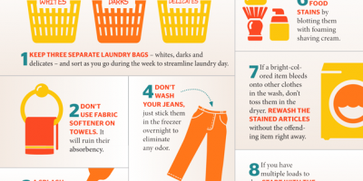 8 Laundry Hacks {Infographic}