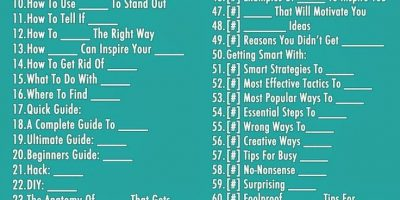 74 Blog Post Title Templates {Infographic}