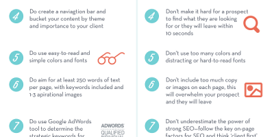 Website Do's And Don'ts {Infographic}