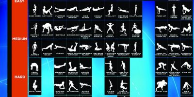 Periodic Table of Bodyweight Exercises {Infographic}