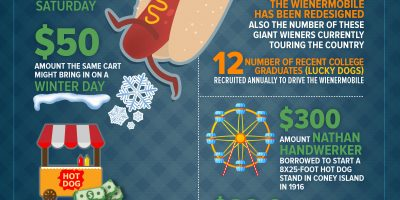 Hot Dogs by the Numbers [Infographic]