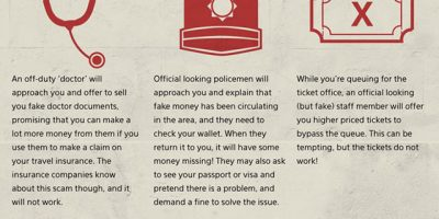 40 Tourist Scams To Avoid {Infographic}