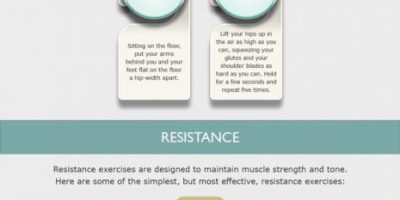 Exercises You Can Do On the Road {Infographic}