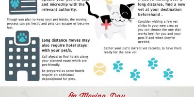 Tips for Moving with Pets {Infographic}