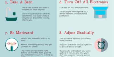 10 Tricks To Wake Up Earlier {Infographic}
