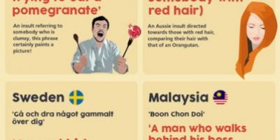 20 Bizarre Insults from Around the World {Infographic}