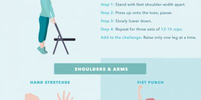 The Best Desk Stretches {Infographic}
