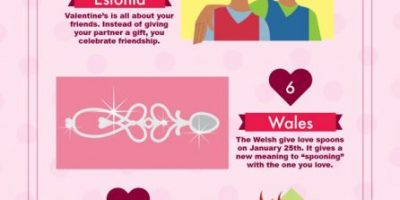 11 Valentine's Day Traditions {Infographic}