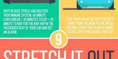 9 Hacks To Stay Healthy At Work {Infographic}