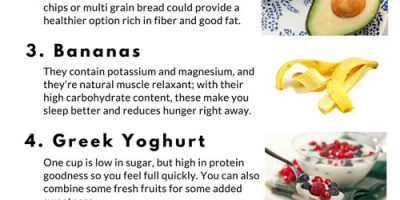 8 Healthy Snacks To Eat After 8PM {Infographic}